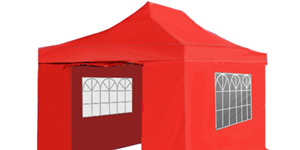 Statafels, easy up tent